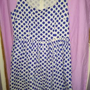 Delia's White with blue polka dots